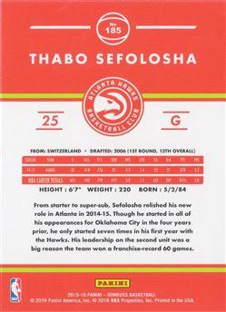 Thabo Sefolosha - 2015-16 Panini Donruss #185 Base