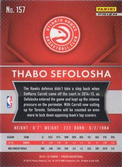 Thabo Sefolosha - 2015-16 Panini Prizm #157 Green