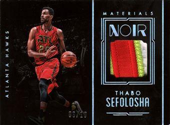 Thabo Sefolosha - 2016-17 Panini Noir Materials Color #28 Patches