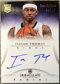 2012-13 Immaculate Collection Inscription Isaiah Thomas #IT