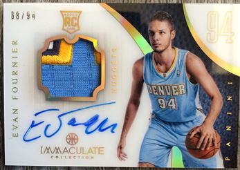 2012-13 Immaculate Collection Acetate Evan Fournier RPA